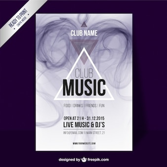 Club music poster with smoke effect