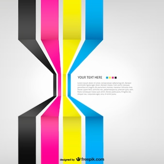 Cmyk 3D Background template
