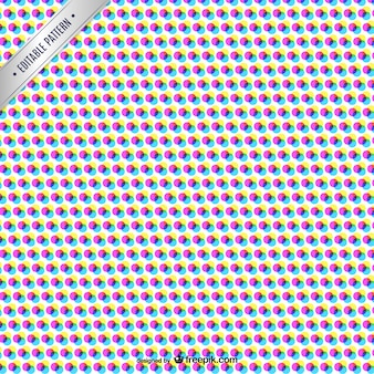 Cmyk abstract pattern with color dots