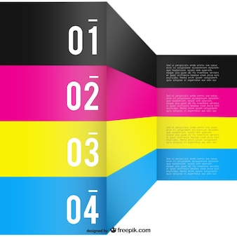 Cmyk background template