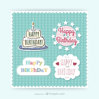 CMYK Birthday stickers
