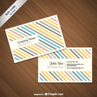 CMYK Grunge business card template