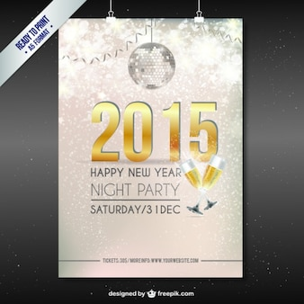 CMYK New Year party poster