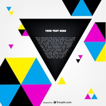 Cmyk polygonal template vector