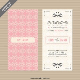 CMYK Wedding invitation