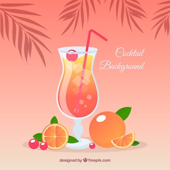 Cocktail background with orange