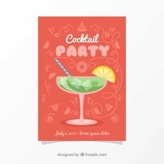 Cocktail party brochure