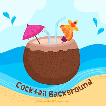 Coconut cocktail background