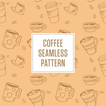 Coffe pattern background