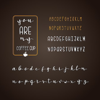 Coffee alphabet collection