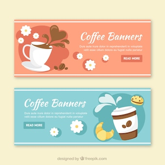 Coffee banners in design