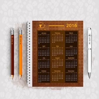 Coffee Bar Business Calendar Design