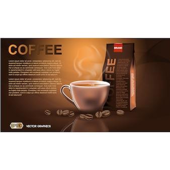 Coffee brochure template