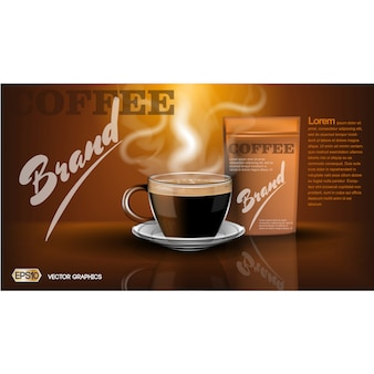 Coffee brochure template