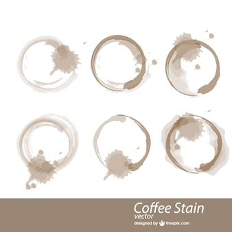 Coffee cup stains vector