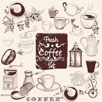 Coffee elements design