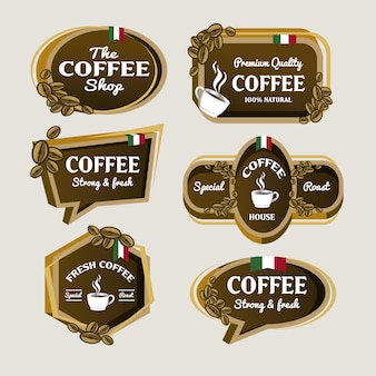 Coffee logo collection