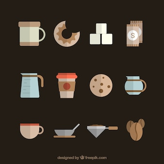 Coffee maker and coffee elements