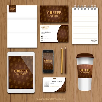 Coffee shop brand vintage stationery