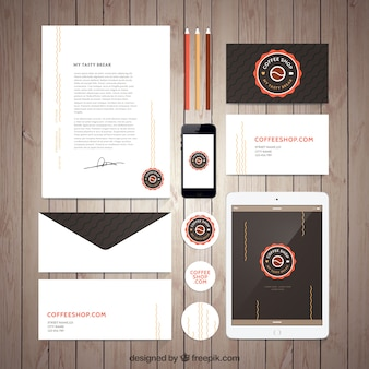 Coffee Shop Stationery Collection