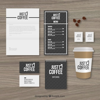 Coffee shop stationery pack