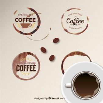 Coffee stain badges