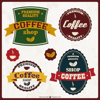 Coffee stickers design