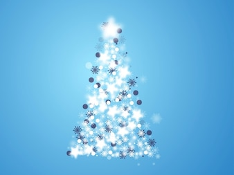 Cold Christmas tree celebration vector