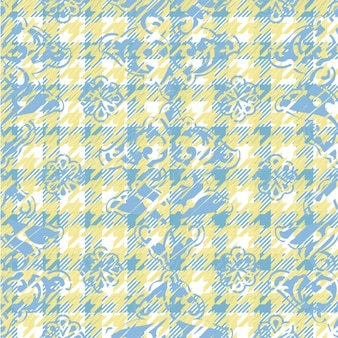 Cold colors houndstooth pattern