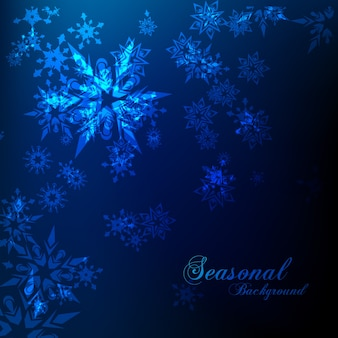 Cold seasonal background