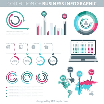 Colecction of business infography