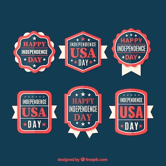Collection of  decorative usa badges