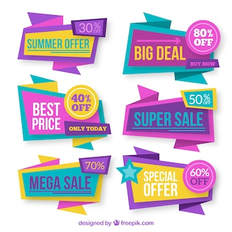Collection of abstract discount banner