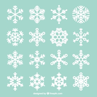 Collection of abstract snowflakes