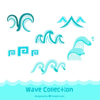 Collection of abstract waves