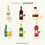 Collection of alcoholic beverages
