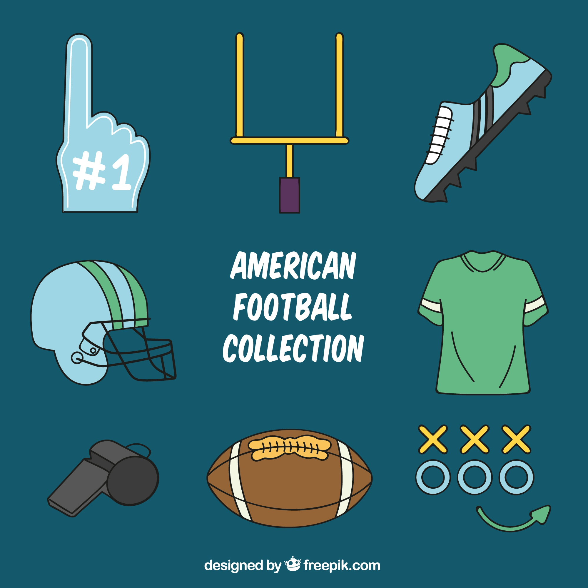 Collection of american football items