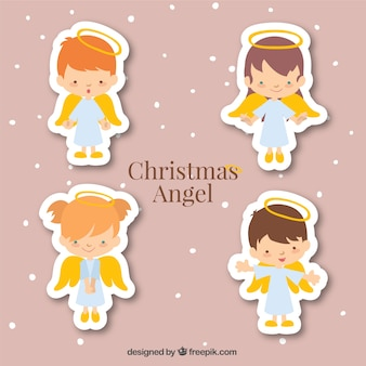 Collection of angel stickers