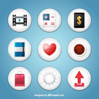 Collection of app icons
