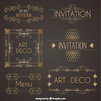 アールデコ調の装飾品のコレクション
