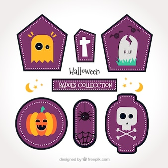 Collection of beautiful halloween badges