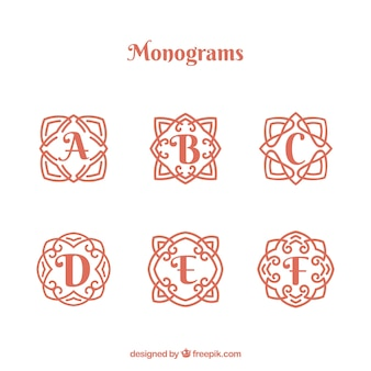 Collection of beautiful hand drawn monograms