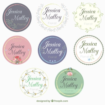 Collection of beautiful wedding stickers