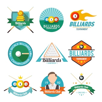 Collection of billiard badges