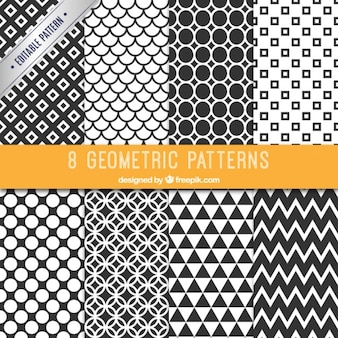 Collection of black and white patterns