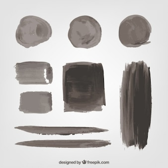 Collection of black paint stains