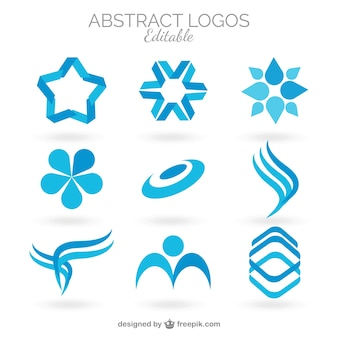 Collection of blue abstract logos