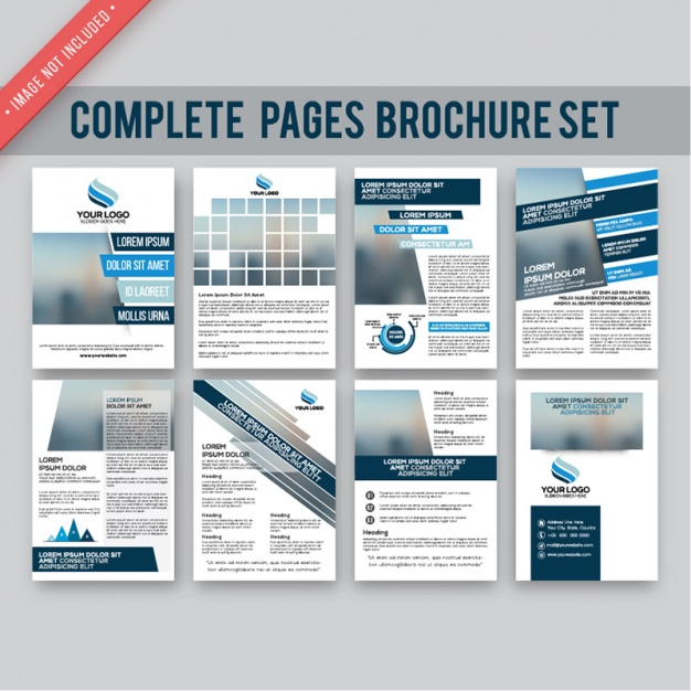 Collection of brochure pages