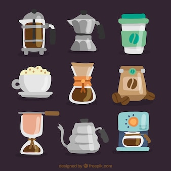 Collection of cafe elements