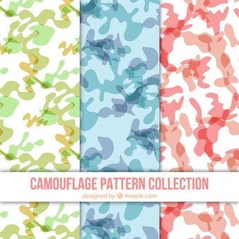 Collection of camouflage patterns